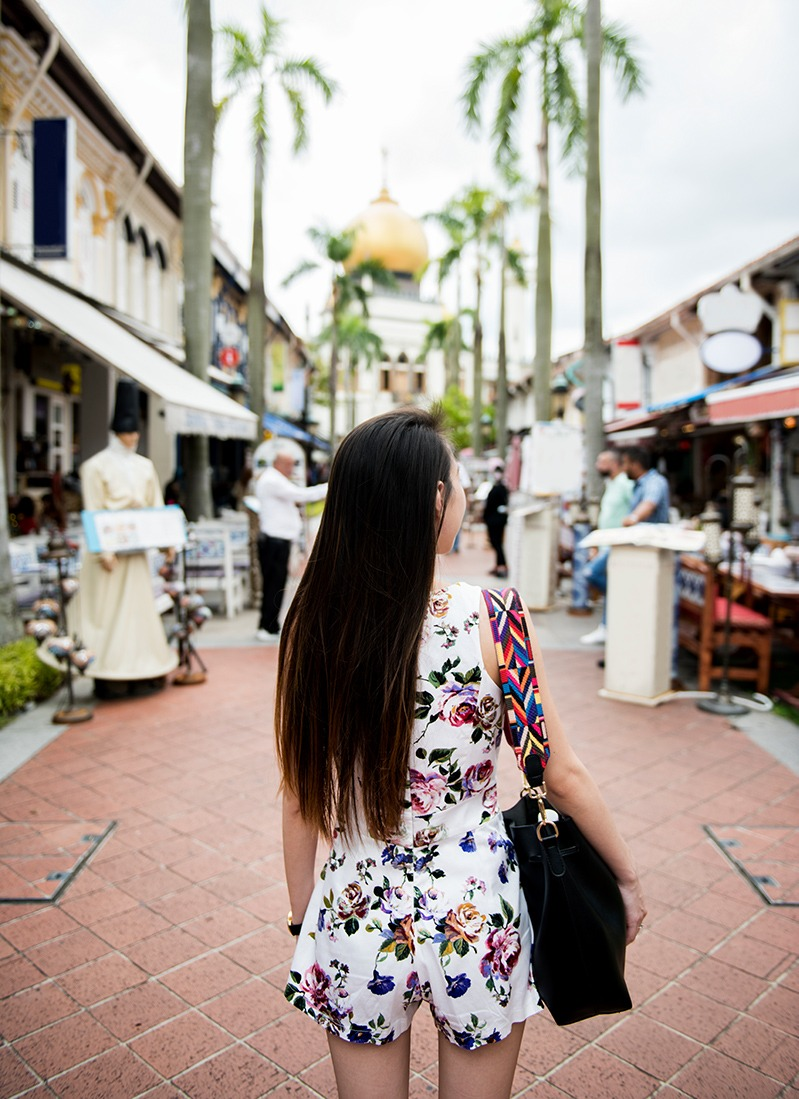 asian woman on a tourism holiday in taiwan