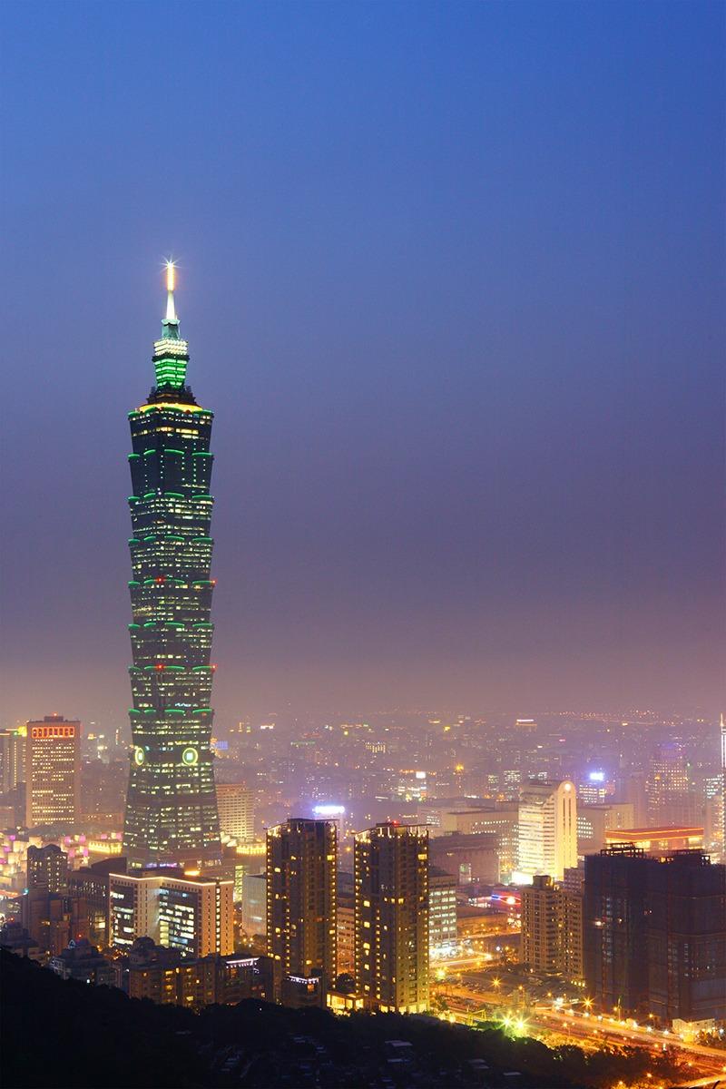 taipei city in taiwan at night
